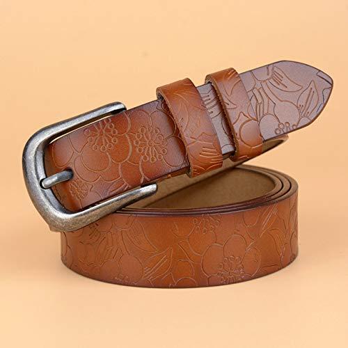 LOCOTECH Cinturón de hebilla de mujer, marrón, 100 cm