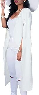 Women's Open Front Cape Trench Duster Coat Longline Casual Blazer Suit