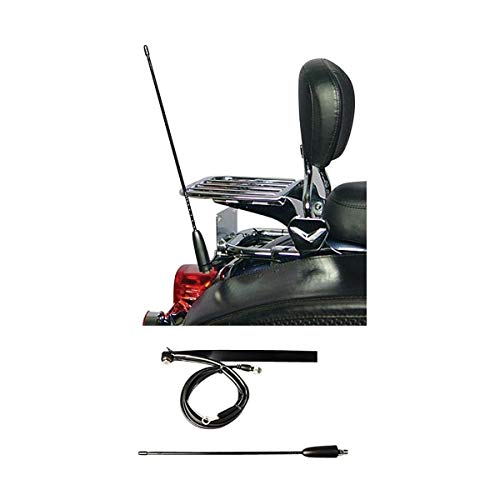 J&M LPCBA-200 License Plate Mount CB Antenna Kit with 2 ft. Staff