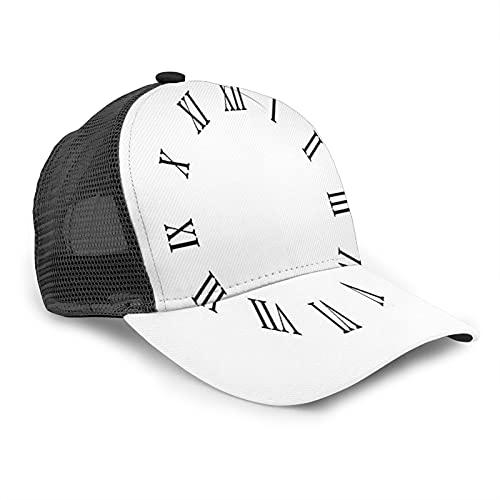Aliciga Gorra de Beisbol para Hombres Mujeres Espalda de Malla Snapback,Reloj,Sombrero del Camionero Deportes al Aire Libre para Viajar