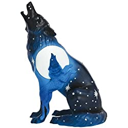 Westland Giftware Call of The Wild Ceramic Figurine, 6.25-Inch, Wolf Eclipse