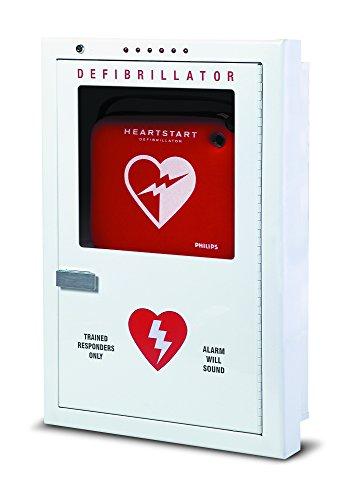 HeartStart Philips PFE7023D Semi-Recessed Defibrillator Cabinet, Beige, 16.5? (42 cm) w, 24.5? (62 cm) h, 2.5? (6 cm) d
