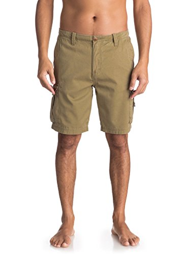 Quiksilver Crucialbattlesh M Tmp0 Pantalones Cortos, Hombre, Beige...