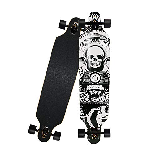 KHSKX Longboard Skateboard Tanzbrett langlebiges Sport Skateboard geeignet für Erwachsene Teenager Anfänger Profis-Skelett