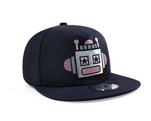 True Heads Casquette de Baseball Robot Bleu Snapback