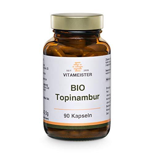 vitameister BIO Topinambur Kapseln, 90 Stück im Braunglas, hergestellt in Brandenburg