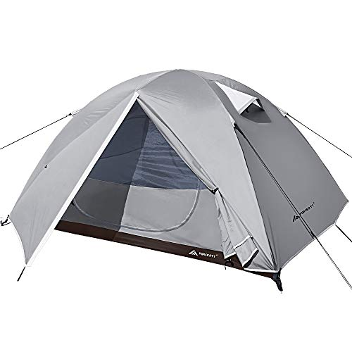 Forceatt Camping Tent 2 and 4 Person Tent, Waterproof & Windproof. Lightweight Backpacking Tent, Easy Setup, Suitable for Outdoor and Hiking Traveling (3 people-off-white)