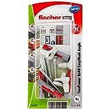 fischer - Alcayata EasyHook DuoPower 8x40, tacos para pared, tacos y tornillos, alcayatas y ganchos, colgar cuadros, Pack de 4 uds.