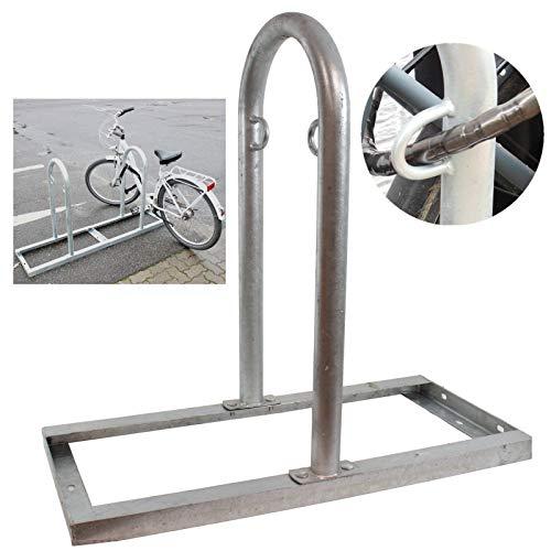 B-Ware (Neuware mit Produktionsfehler) Fahrradanlehnbügel mit Bodenrahmen beliebig erweiterbar Reihenparker Fahrradständer Anlehnbügel Anlehnständer feuerverzinkt Fahrradständer Aufstellständer