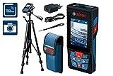 Bosch Professional 0601072F01 Télémètre Connecté GLM 120 C + Trépied BT 150 Professional, Bleu