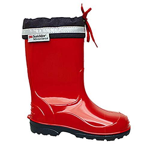 LEMIGO Kim - Botas de agua para niños con puño, color Rojo, talla 22 EU