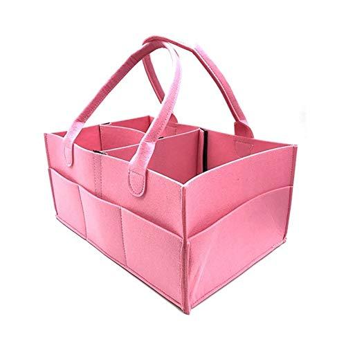 Diaper bag Sac à Couches Felt Couches for bébés Panier de Rangement Maman Portable Sac de Rangement ( Color : Rose )