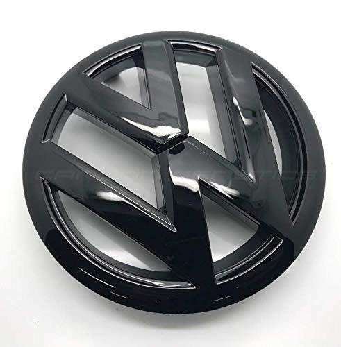Negro Brillante 135mm Frontal Grill Bonnet Badge Emblema para Golf 6 MK6 2009-2012
