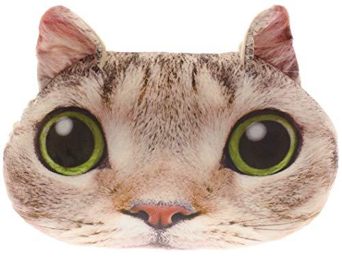 MIK Funshopping kussen sierkussen decoratie schattige lichtbruine kat 35 x 25 cm