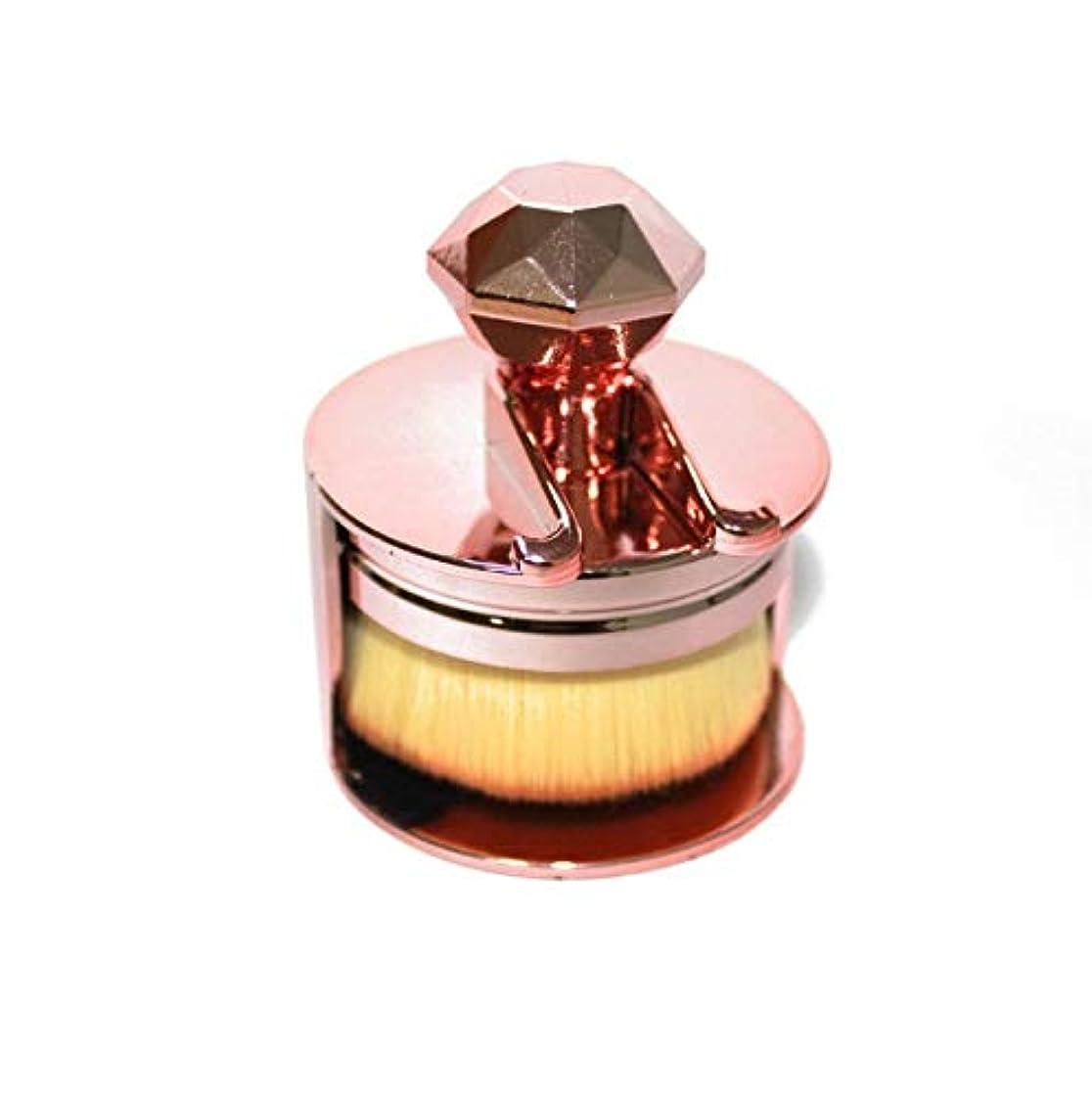 累積衝撃興奮する化粧ブラシ、シングルスタンプタイプファンデーションブラシ、プロの化粧ブラシ化粧ギフト (Color : ピンク)
