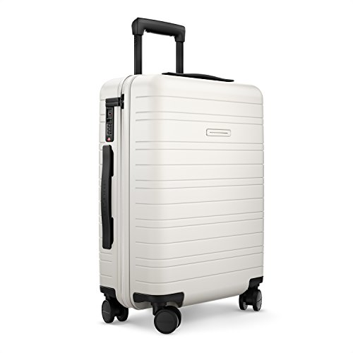 HORIZN STUDIOS H5 Cabin Luggage (35 L) with an Integrated, Removable Smart Charger and inbuilt Compression Pad. for Trips 2-3 Days (Cosmic White)