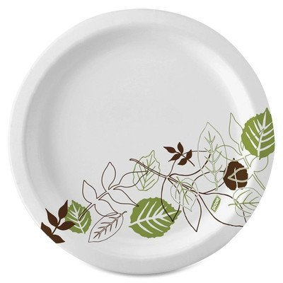 Sage Collection Mediumweight Paper Plates, 7 Diameter, 125/Pack (DXEUX7SAGE) by Dixie