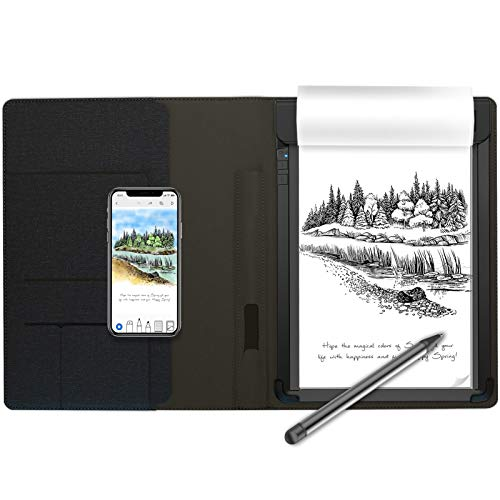Royole RoWrite Smart Writing Digital Pad for Business, Academic and Art, with Folio, Pen, 2 A5 Notepads (Without LCD Screen)