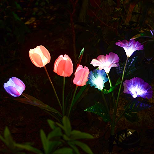 Tulip and Flower Solar Lights Outdoor