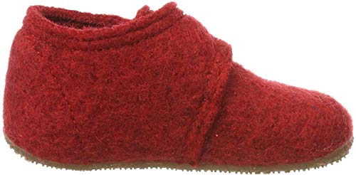 Living Kitzbuhel Unisex Baby Babyklettschuh Krabbel- & Hausschuhe, Rot (rot 350), 20 EU