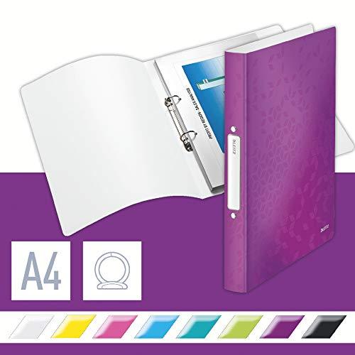 Leitz 42570062 Ringbuch wow, A4, PP, 2 Ringe, 25 mm, violett