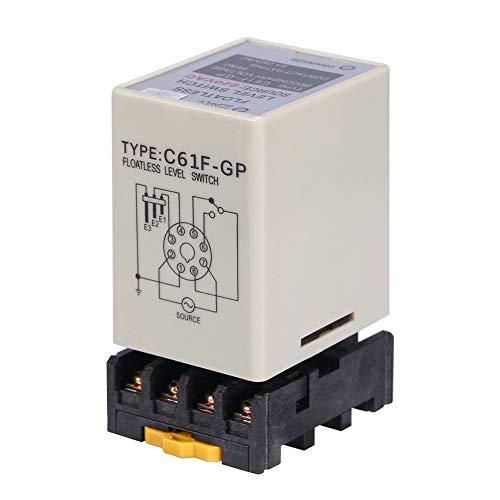 C61F-Gp Ac220V 50 y 60Hz Controlador de interruptor de nivel sin flotador líquido Interruptor de nivel sin flotador con base para circuito de control automático
