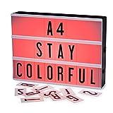 CrazyFire Caja de Luz, Cambio de Color Lightbox A4,Batería Recargable Cinematic Led Box con 189...