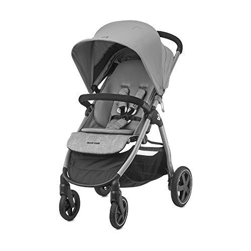 Maxi-Cosi Gia, kompakter Sportwagen mit bequemem Sitz, nutzbar ab der Geburt bis ca. 4 Jahre (max. 22 kg), faltbarer All-Terrain-Buggy inkl. Regenverdeck & großem Einkaufskorb, Nomad Grey (grau)