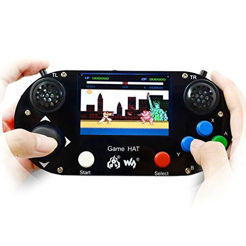 """Manette Raspberry Pi 3 modèle B + Game HAT avec écran LCD 3,5"""" - pour Raspberry Pi Zero/Zero W"""