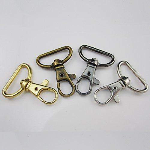 Karabinerhaken aus Metall, drehbar, 20/50Stück, Schnallen für 25mm breite Bänder Leder, Riemen, Gürtel bunt