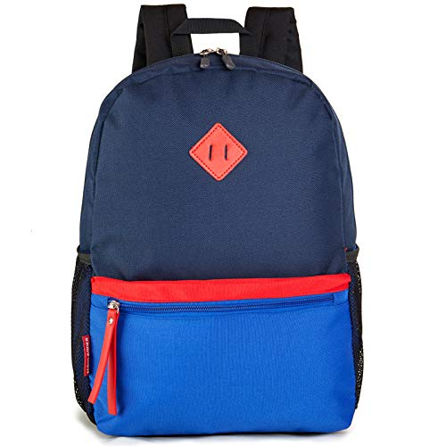 HawLander 3 to 6 Year Old Preschool Backpack for Toddler Little Kid School Bag for Boys Navy-blue
