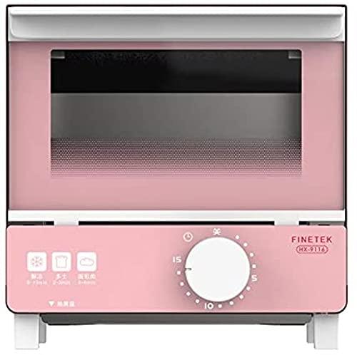 Exquisito horno para hornear para el hogar, tostadora automática, mini-horno multifuncional, control inteligente de temperatura, calefacción circulante, temporizador, 5L, 550W (rosa/azul)