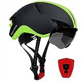 iWUNTONG Casco Bici, Casco Bici Uomo Donna USB LED Ricaricabile Certificato CE con Rimovibile Magnetica...