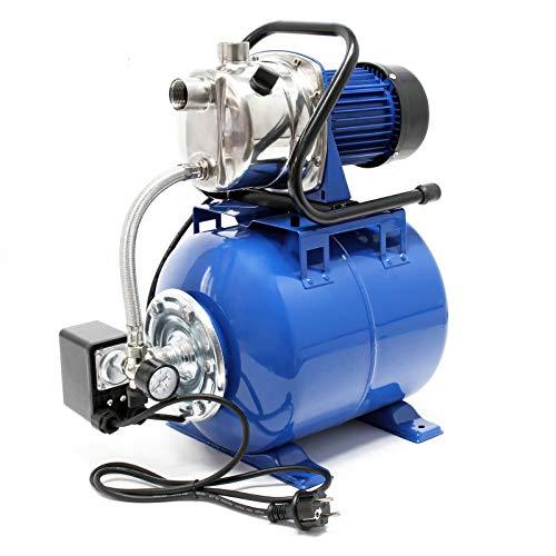 Hauswasserwerk 1200W 3400l/h, Hauswasserautomat mit Druckschalter und 19l Membrankessel
