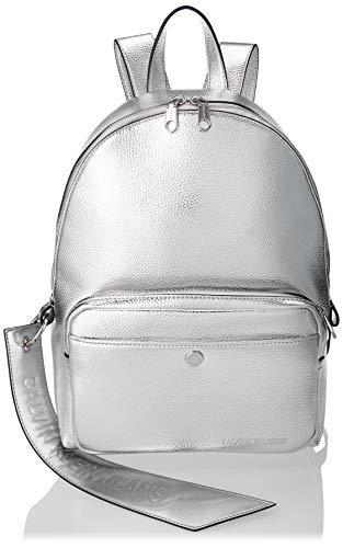 Calvin Klein - Ckj Banner Cp Backpack 35, Mochilas Mujer, Gris (Silver), 0.1x0.1x0.1 cm (W x H L)