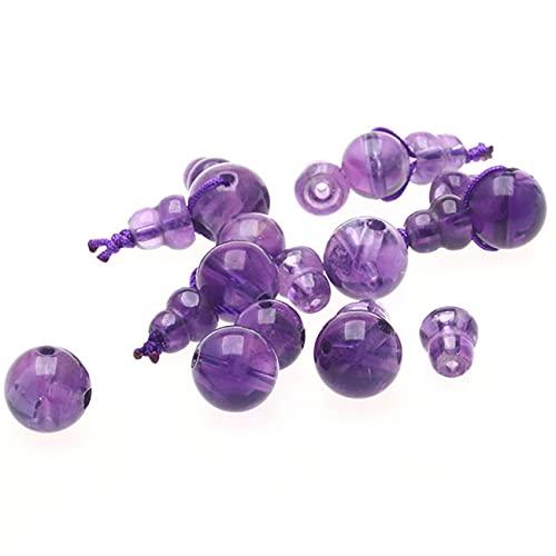 Toltec Lighting Crystal Charms for Jewelry Haciendo Amatista Natural Buda Cabeza de tee Charms Adorno de meditación para Pulsera Collar Fabricación y Crafting Atraer Wealth 1pcs,8MM