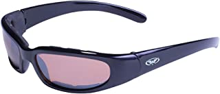 Eyewear Chicago Sunglasses, Driving Mirror Lens, Gloss Black Frame