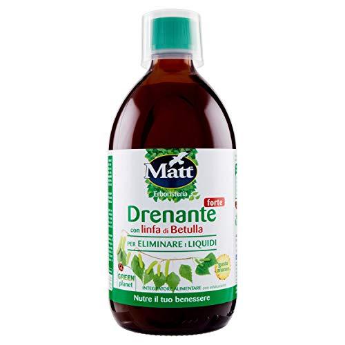 Matt - Drenante Forte - Formula Concentrata Da Diluire, Con Linfa Di Betulla - Elimina I Liquidi In Eccesso - 500 Ml