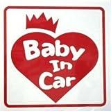 オリジナルステッカー Baby In Car クラウン・ハート (レッド) ST-1073