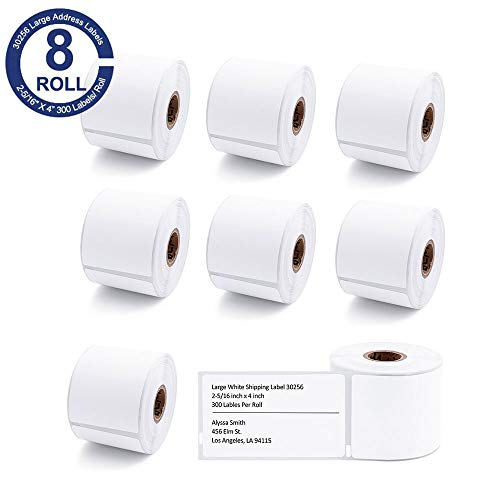 """Suminey - Compatible 30256 Shipping Labels 2-5/16"""" X 4�(59mm x 101mm) Replacement for DYMO 30256 Labels,Perforated & Premium Adhesive, 8 Rolls"""