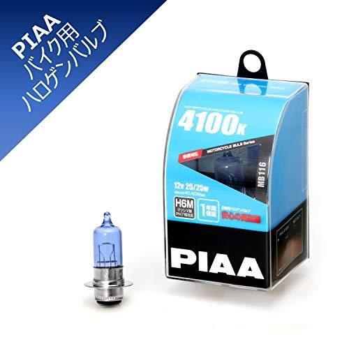 PIAA バイク用ヘッドライトバルブ ハロゲン 4100K 明るさ感40/40W相当 H6M(マツシマ製PH7相当品) 高耐震性能20G 1年保証 1個入 MB116