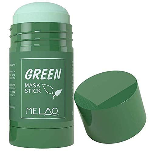 Green Tea Mask Stick for Face, Blackhead Remover with Green Tea Extract, Deep Pore Cleansing, Moisturizing, Skin Brightening, Removes Blackheads for All Skin Types of Men and Women
