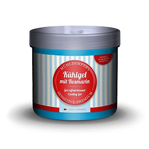 Mühldorfer Kühlgel, 500 ml, kühlt und vitalisiert müde und beanspruchte Pferdebeine, hautfreundlich, mit Rosmarinextrakt, Pflegemittel für Pferde