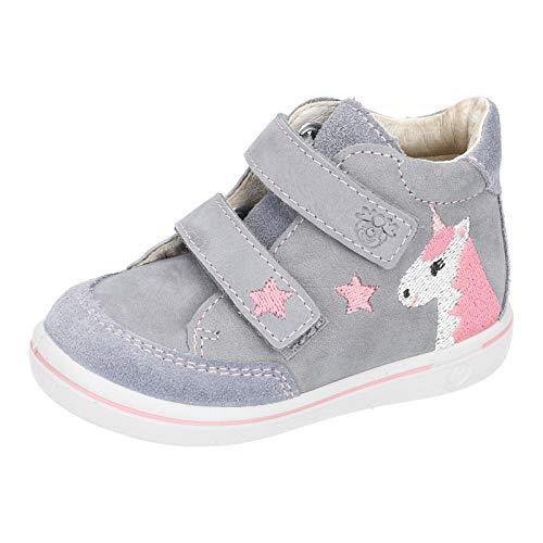 RICOSTA Kinder Lauflern Schuhe HANNI von Pepino, Weite: Mittel (WMS), detailreich Freizeit Halbschuh mit Klettverschluss,calcit,24 EU / 7 Child UK