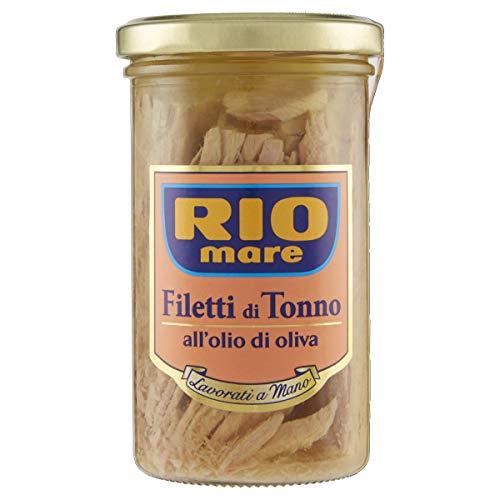 Rio Mare - Filetti di Tonno all'Olio di Oliva, Lavorati a Mano, 1 vasetto da 250g