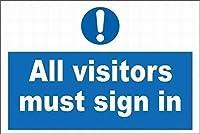 すべての訪問者はブリキのサインにサインインする必要がありますヴィンテージ面白い生き物鉄の絵金属板パーソナリティノベルティ