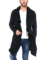 Tinted Mens Cotton Sinker Hooded Waterfall Full Sleeve Cardigan
