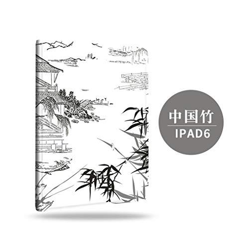 BHTZHY Custodia in bambù Tablet Stile Cinese per Mini123, Custodia Decorativa Mini Shell Soft Shell da 8 Pollici A 7.9 Pollici per Ipadmini123