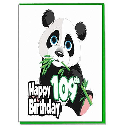 Panda 109e verjaardagskaart - Dames - Heren - Dochter - Zoon - Vriend - Echtgenoot - Vrouw - Broer - Zuster - Moeder - Papa