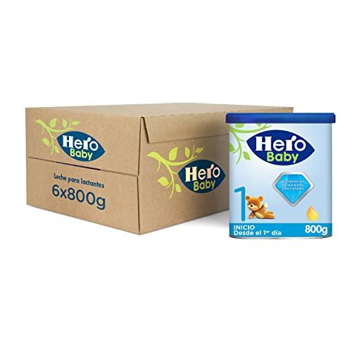 Hero Baby Leche 1, para niños desde el 1er día, pack de 6 x 800 g